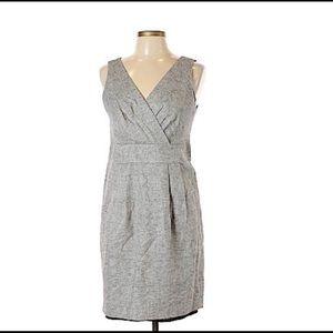 Ann Taylor Loft silver metallic sheath dress 4